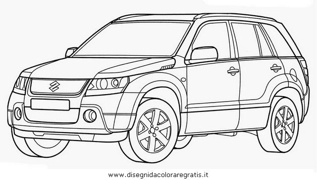 Disegno suzuki granvitara categoria mezzi trasporto da for Jeep da colorare