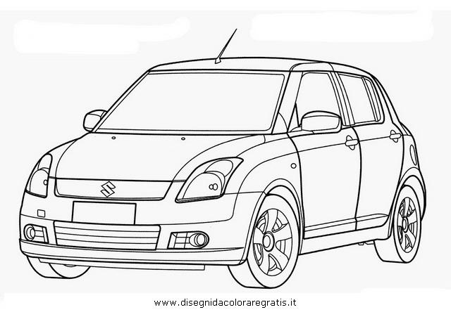 disegno suzuki swift categoria mezzi trasporto da colorare