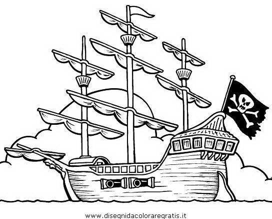 Nave Dei Pirati Da Colorare Pastoorvanarskijkduin