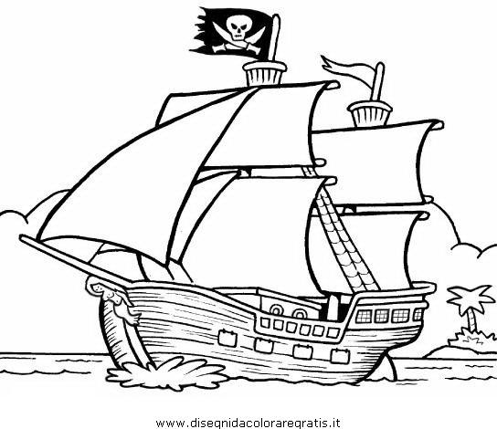 Disegni Da Colorare Barca.Disegno Veliero Pirati 02 Categoria Mezzi Trasporto Da Colorare