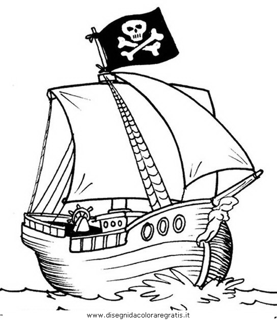 Disegno veliero pirati 03 categoria mezzi trasporto da - Pirata immagini da colorare i pirati ...