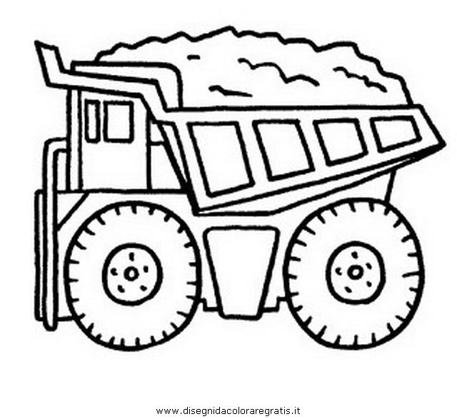 Disegno dumper categoria mezzi trasporto da colorare - Foto di grandi camion ...