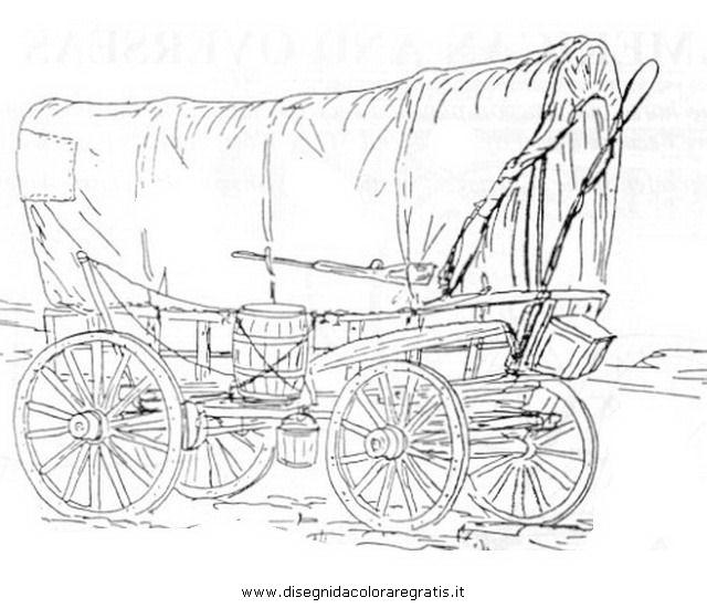 Disegni Da Colorare Cavalli Con Carrozza.Disegno Carrozza 11 Categoria Mezzi Trasporto Da Colorare