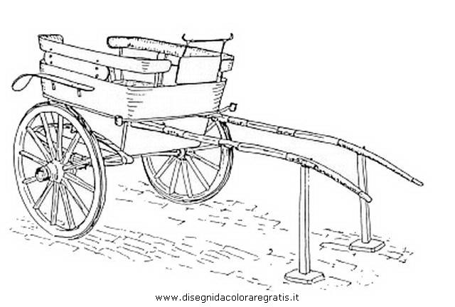 Disegni Da Colorare Cavalli Con Carrozza.Disegno Carrozza 13 Categoria Mezzi Trasporto Da Colorare