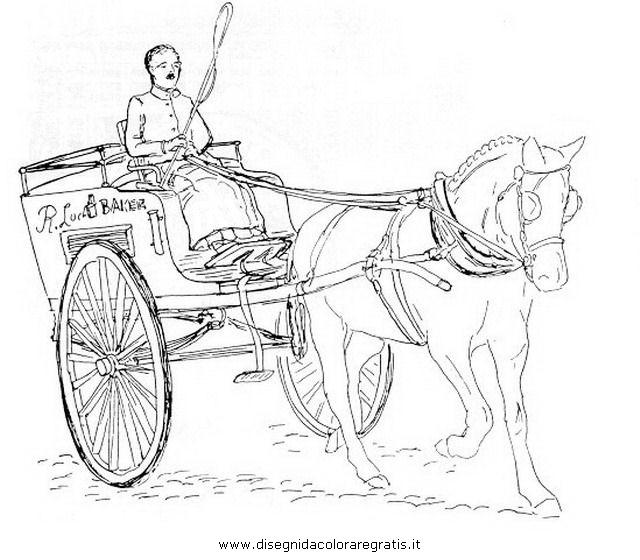 Disegni Da Colorare Cavalli Con Carrozza.Disegno Carrozza 17 Categoria Mezzi Trasporto Da Colorare