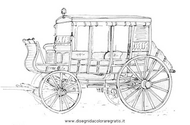 Disegni Da Colorare Cavalli Con Carrozza.Disegno Carrozza 18 Categoria Mezzi Trasporto Da Colorare