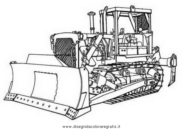 disegno caterpillar categoria mezzi trasporto da colorare