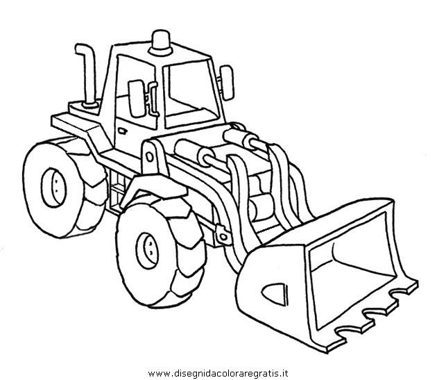 Disegni Da Colorare Per Bambini Escavatori.Disegno Trattore Scavatrice 34 Categoria Mezzi Trasporto Da