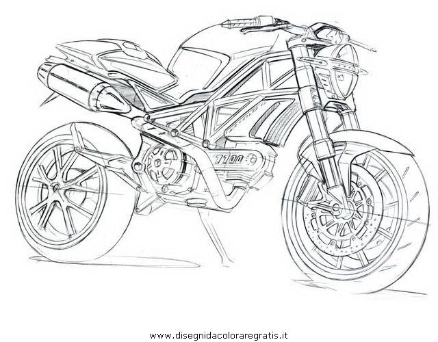 Disegno Ducati Monster Categoria Mezzi Trasporto Da Colorare