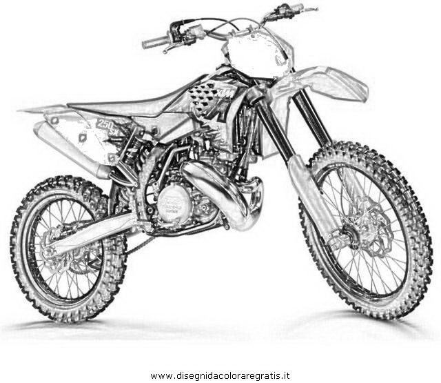 Ktm Motcross Colouring Pages