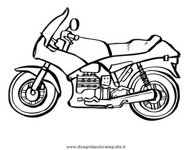 Disegno motocicletta categoria mezzi trasporto da colorare