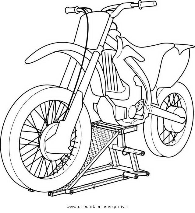 Disegno Motocross Categoria Mezzi Trasporto Da Colorare