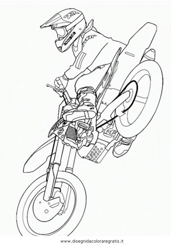 Disegno Motocross2 Categoria Mezzi Trasporto Da Colorare