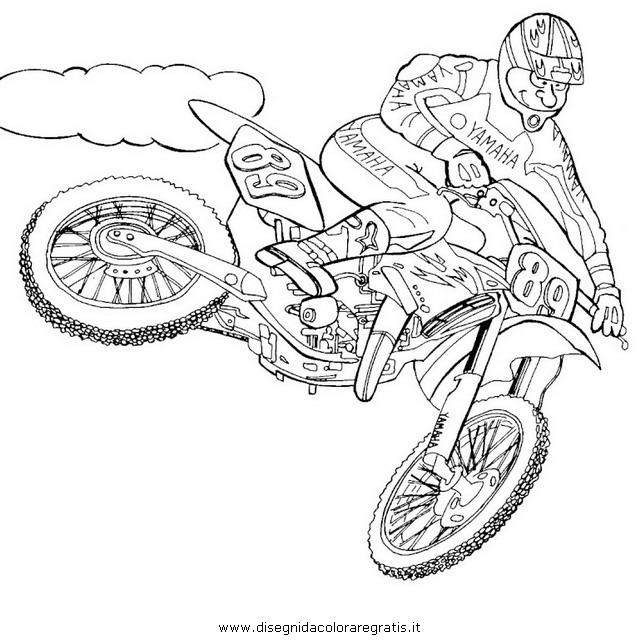 disegno motocross 8 categoria mezzi trasporto da colorare