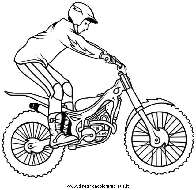 Immagini Di Moto Da Colorare.Disegno Trial Categoria Mezzi Trasporto Da Colorare
