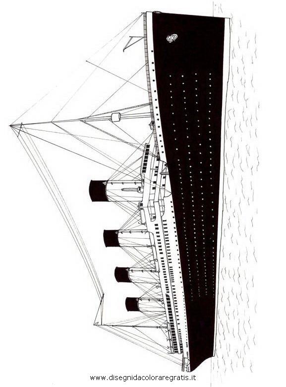 Disegno Titanic Categoria Mezzitrasporto Da Colorare
