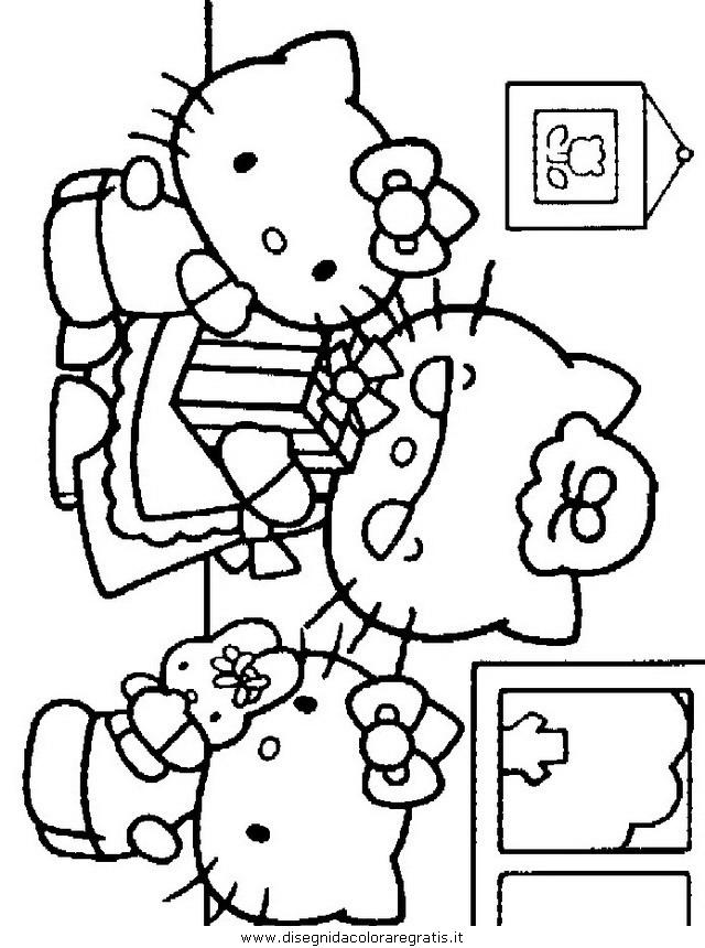 Disegno animali personaggio cartone animato da colorare