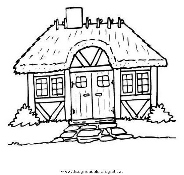 Malvorlage Haus: Disegno Capanna_legno: Misti Da Colorare