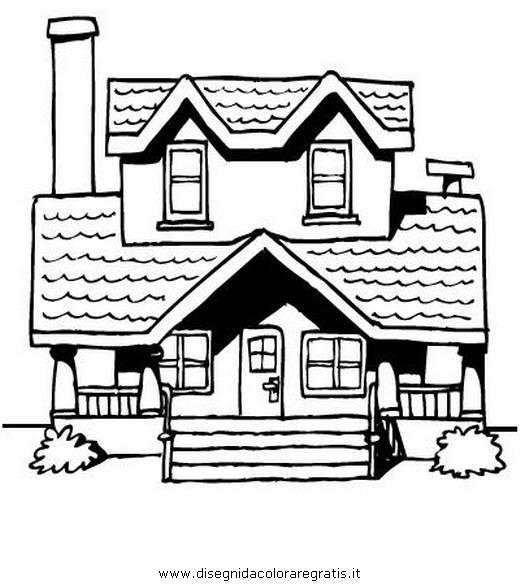 disegno bungalow misti da colorare