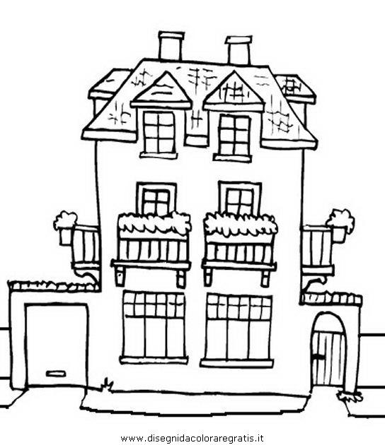 Disegno villa misti da colorare for Disegni di ville