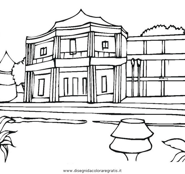 Disegno hotel3 misti da colorare for Disegno casa interno