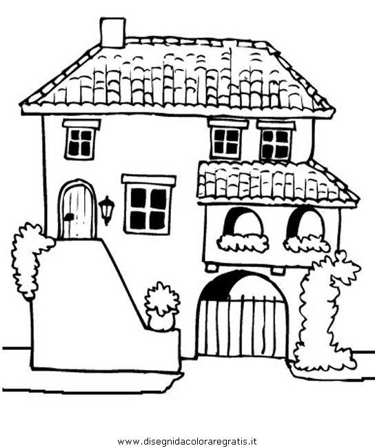 Disegno villa spagnola misti da colorare for Disegni di ville