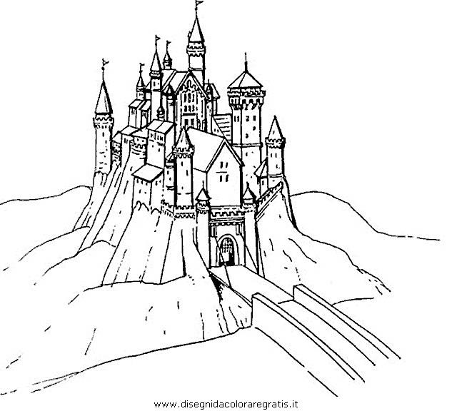 Disegno Castello37 Misti Da Colorare
