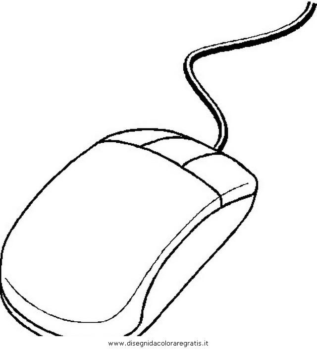 Disegno Mouse02 Misti Da Colorare