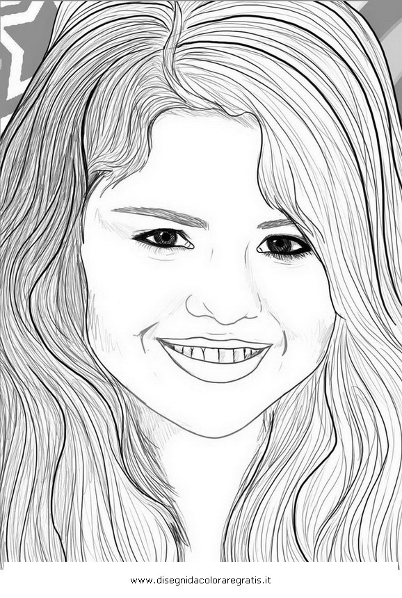 Disegno selena gomez misti da colorare for Selena gomez coloring page