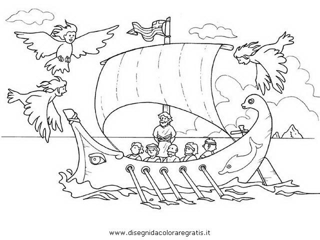 Disegno ulisse sirene personaggio cartone animato da colorare