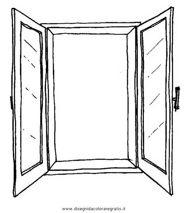 disegno finestra 03 categoria misti da colorare