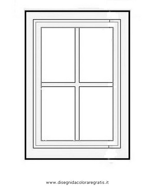 disegno finestra 04 misti da colorare