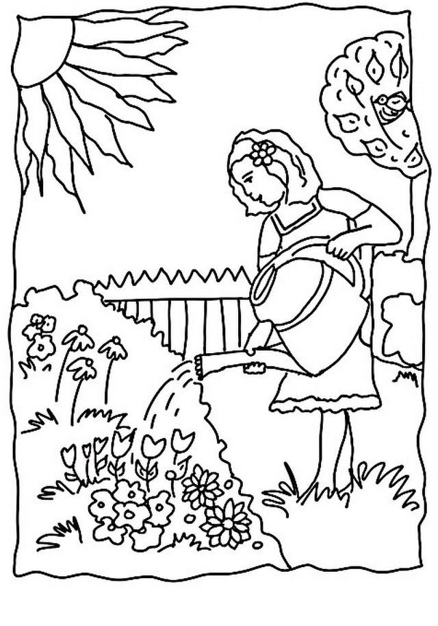 disegno giardino giardini 3 misti da colorare