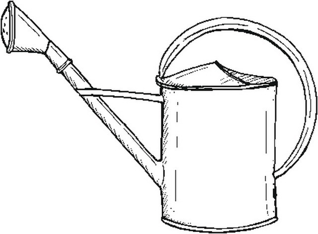 Disegno Watering Can 2 Misti Da Colorare