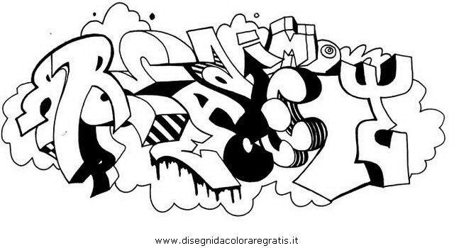 Disegno Graffiti 10 Misti Da Colorare