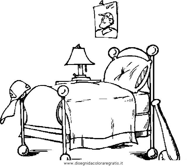 Disegno letto_0 misti da colorare