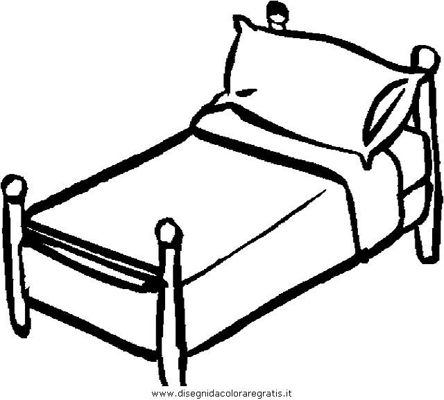 Disegno letto_1 misti da colorare