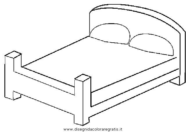 Disegno letto 3 misti da colorare - Disegni camera da letto ...