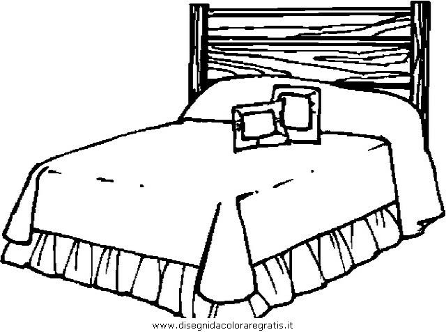 Disegno letto 5 misti da colorare for Disegni di coperta inclusi