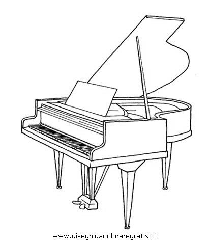 Disegno Pianoforte Da Colorare.Disegno Pianoforte4 Misti Da Colorare