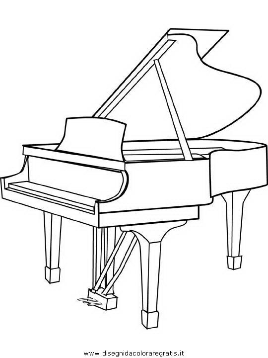Disegno Pianoforte Da Colorare.Disegno Pianoforte Piano Misti Da Colorare