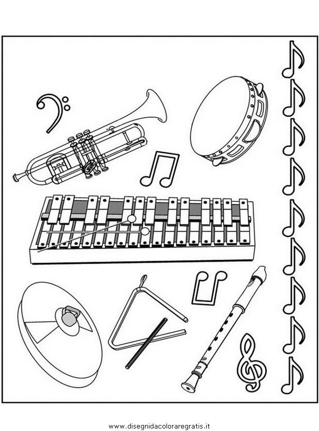 Disegno Strumentimusicali05 Misti Da Colorare