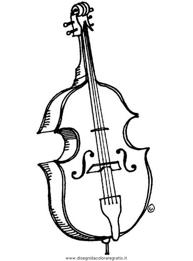Disegno Violoncello Misti Da Colorare