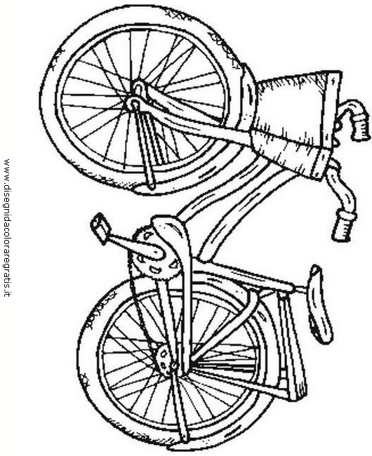 Disegno Bicicletta Misti Da Colorare