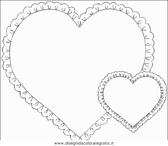 Disegno cuore misti da colorare for Disegni di cuori da stampare gratis