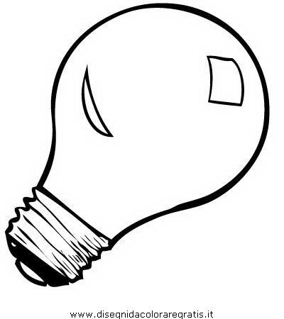 Disegno lampadina_lampadine_2 misti da colorare