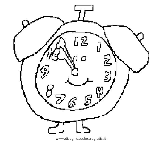 Disegno Orologio Misti Da Colorare