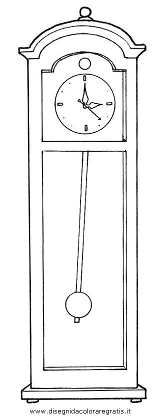 Disegno orologio pendolo misti da colorare