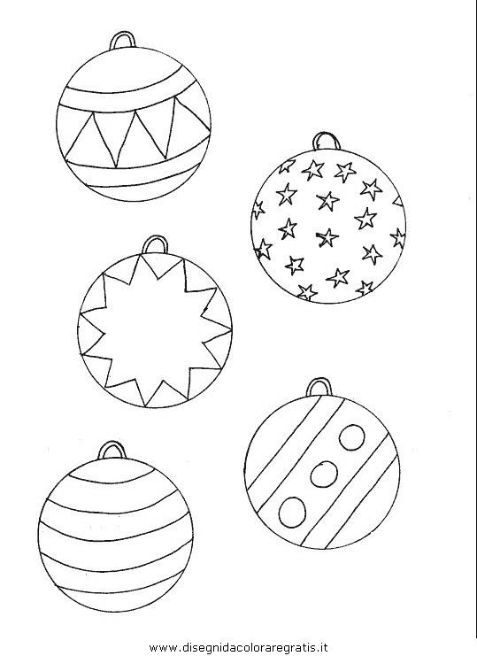 Disegno Palle Di Natakle Categoria Natale Da Colorare