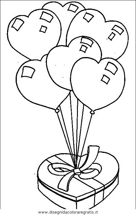 Disegno Palloncini Misti Da Colorare